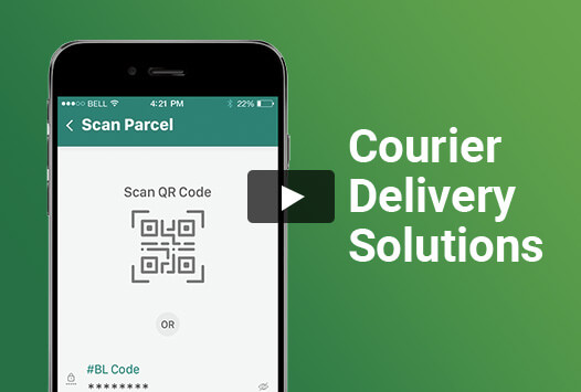 courier delivery app video