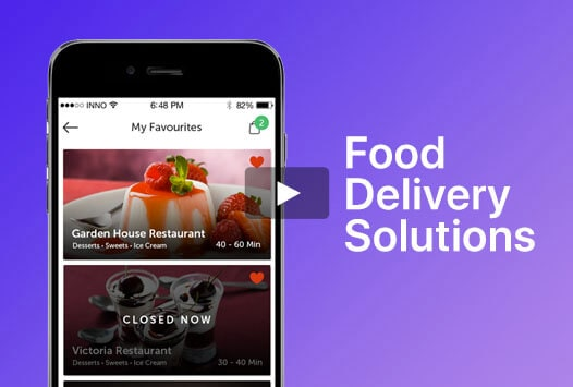 food delivery app video