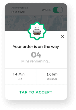 Real time order tracking