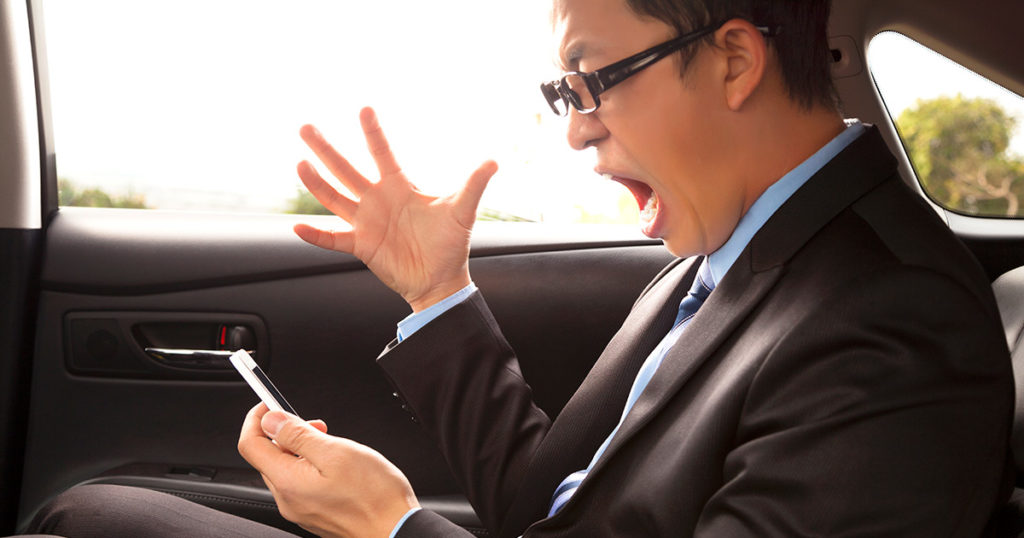 taxi app development for angry customers