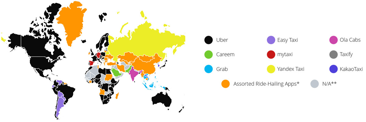 taxi app solution by country