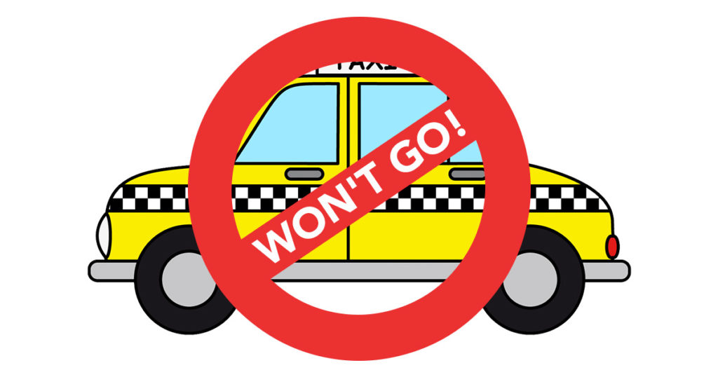 taxi app development to stop refusal