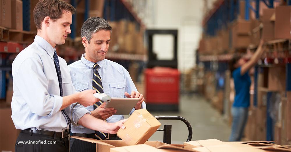 warehouse management with logistics management app