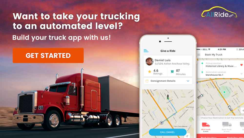 Uber for trucking app CTA