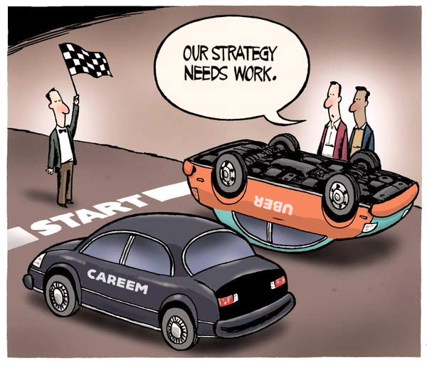 apps like Careem and Uber cartoon