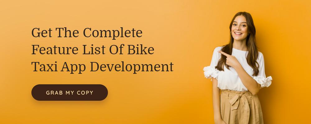 bike taxi app checklist
