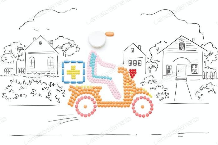 medicine delivery boy