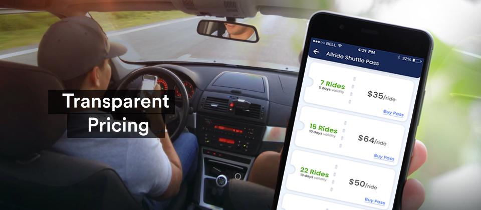 ridesharing app price