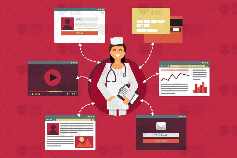 medicine delivery app panels