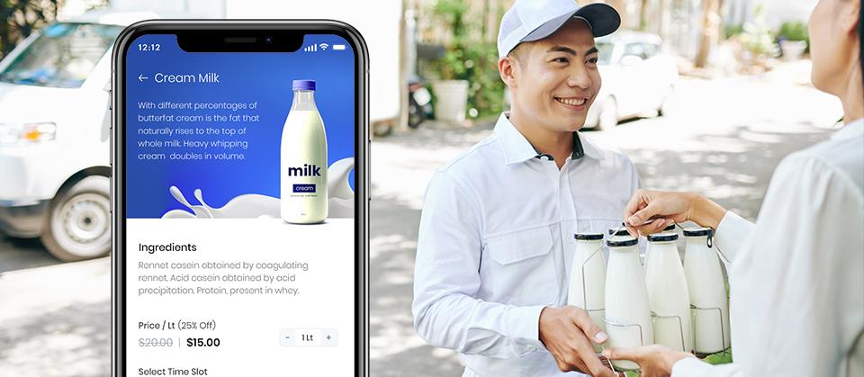 milk delivery app