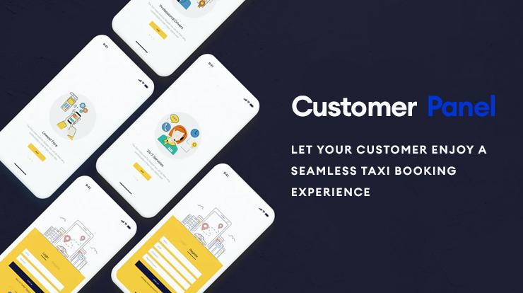 taxi app customer panel