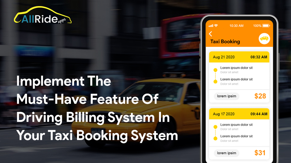 automated driver billing system for taxi app