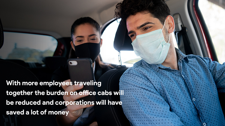 corporate carpooling app