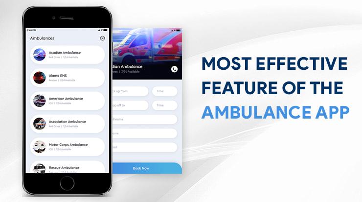 ambulance app development feature